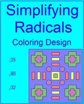 Simplifying Radicals # 2 Coloring Activity