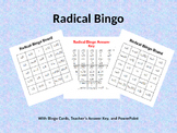 Simplifying Radicals Bingo with Bingo Cards and PowerPoint