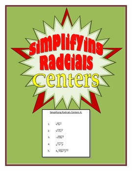 Simplifying Radicals Centers
