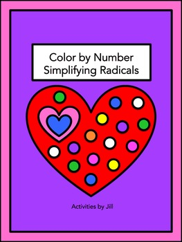 Simplifying Radicals Color by Number