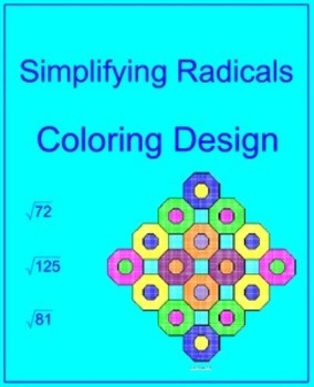 Simplifying Radicals # 1 - Coloring Design