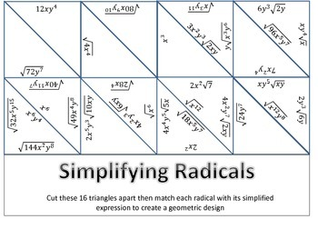 Simplifying Radicals - Moderate Difficulty