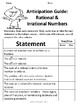 Real Numbers: Rational and Irrational No Prep Lesson