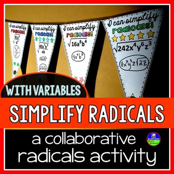 Simplifying Radicals {with variables} Pennant