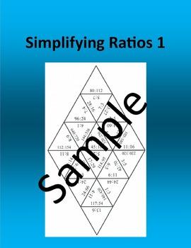 Simplifying Ratios 1 – Math puzzle