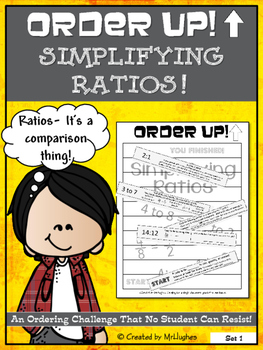 Simplifying Ratios - Order Up! Set 1
