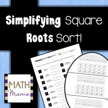 Simplifying Square Roots Sort!