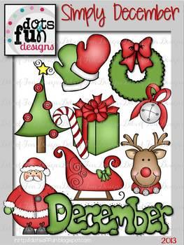 Simply December Clip Art