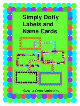 Simply Dotty Labels and Name Cards