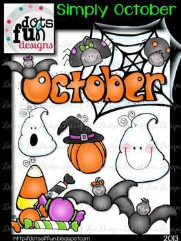 Simply October Clip Art