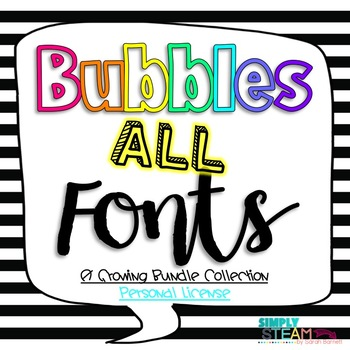 Fonts for Personal {Non-Commercial} Use Simply STEAM Bubbles