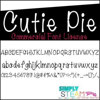 Simply STEAM Bubbles Cutie Pie Font License for Personal &