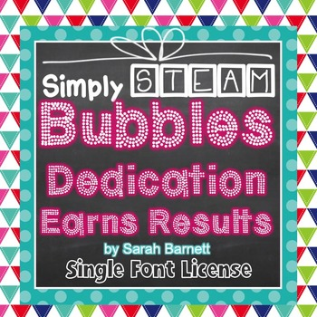 Simply STEAM Bubbles Dedication Font License for Personal