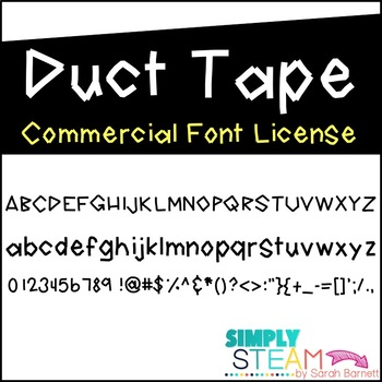 Simply STEAM Bubbles Duct Tape Font for Personal & Commercial Use