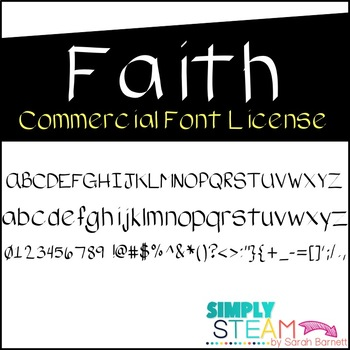 Simply STEAM Bubbles Faith Font License for Personal & Com