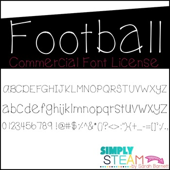 Football Font License for Personal & Commercial Use
