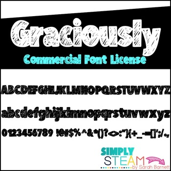 Simply STEAM Bubbles Graciously Font for Personal and Comm