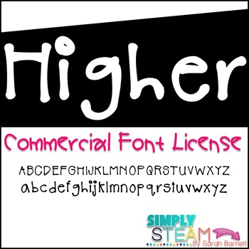 Simply STEAM Bubbles Higher Font License for Commercial &