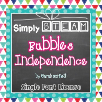 Simply STEAM Bubbles Independence Font License for Persona