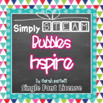 Simply STEAM Bubbles Inspire Font License for Personal & C