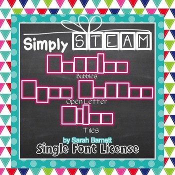 Simply STEAM Bubbles Open Letter Tiles Font License for Co