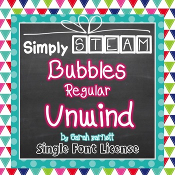 Simply STEAM Bubbles Regular Unwind Font for Personal & Co