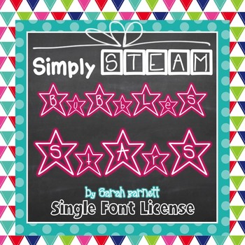 Simply STEAM Bubbles Stars Font License for Personal & Com