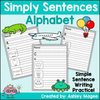 Simply Sentences - Alphabet - No Prep Letter and Sentence