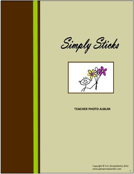 Simply Sticks Teacher Photo Album