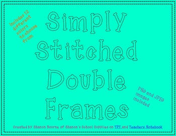 Simply Stitched Double Frames