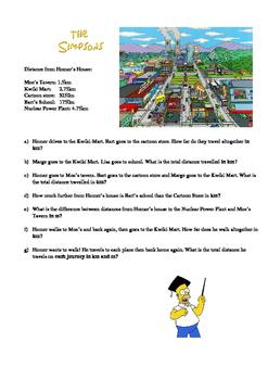 Simpsons Measure problems m & km