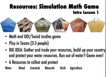 Resources: A Simulation Math Game for Number Sense