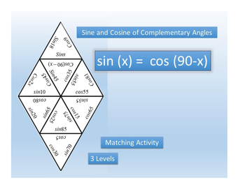 Sine and Cosine of Complementary Angles~Trig~Sin/Cos~Match