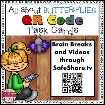 Science Task Cards - Sing, Think & Move with BUTTERFLIES {
