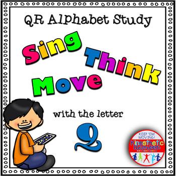 Alphabet Activities - QR Code Task Cards - Letter Sounds - Q