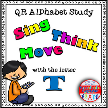 Alphabet Activities - QR Code Task Cards - Letter Sounds - T