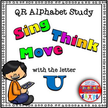 Alphabet Activities - QR Code Task Cards - Letter Sounds - U