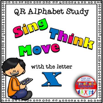 Alphabet Activities - QR Code Task Cards - Letter Sounds - X