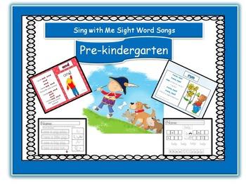 pre-k CD- songs, worksheets, power point