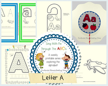 Sing With Me Through the ABC's Series – Letter A Pack