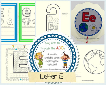 Sing With Me Through the ABC's Weekly Series – Letter E Pack