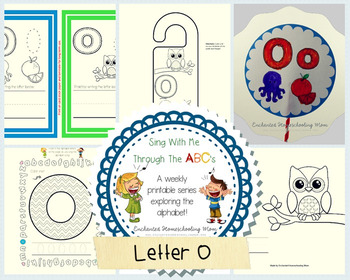Sing With Me Through the ABC's Weekly Series – Letter O Pack