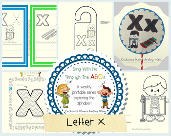 Sing With Me Through the ABC's Weekly Series – Letter X Pack