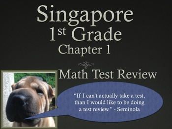 Singapore 1st Grade Chapter 1 Math Test Review (8 pages)