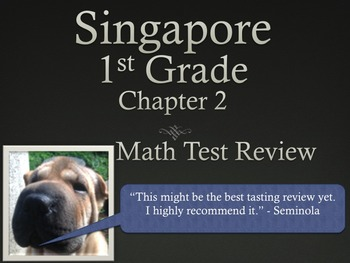 Singapore 1st Grade Chapter 2 Math Test Review (8 pages)