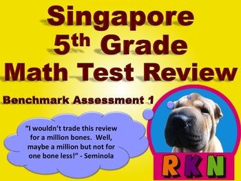 Singapore 5th Grade Benchmark Assessment 1 Math Test Revie