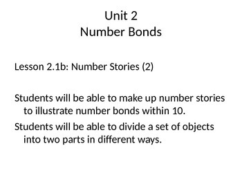 Singapore Math Unit One Lesson 1.1b