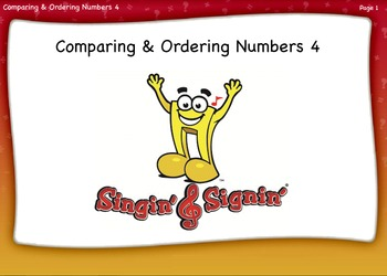 Comparing and Ordering Numbers Lesson 4 Fourth Grade by Si