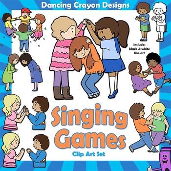 Singing Games Clip Art