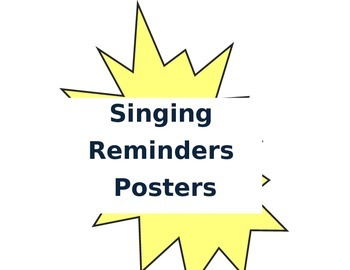 Singing Rules Posters